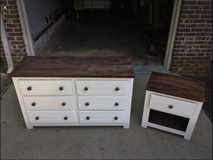 Dresser & Nightstand (realwood/refinished) in Fort Campbell, Kentucky