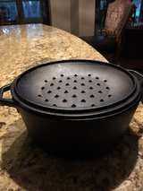 lodge cast iron pan in Lackland AFB, Texas