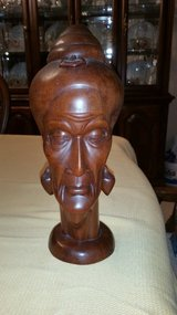 Wood carving head in Kingwood, Texas