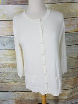 Off white button down sweater in Westmont, Illinois