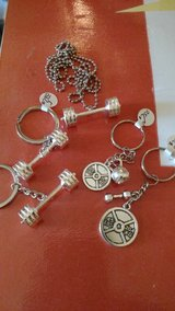 Weight Lifting Work Out Charms Key Chain in 29 Palms, California
