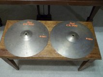 """GENUINE PEARL CX-300 14"""" / FOURTEEN INCH HIGH HATS / HI HAT CYMBALS in Morris, Illinois"""