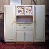 1950s Space Saver Kitchen Cabinet Set With Double Doors in Ramstein, Germany