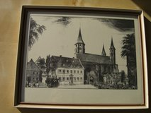 "Kaiserslautern church - picture with frame 11"" x 14"" in Ramstein, Germany"