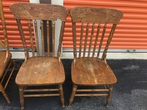 Oak Press Back Chairs in Cherry Point, North Carolina