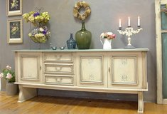 Vintage Shabby Chic Sideboard Large TV Cabinet Buffet Dresser Beautiful Solid Farmhouse Piece in Ramstein, Germany