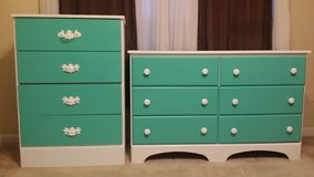 Teal kids Dresser set in Savannah, Georgia