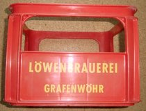 Old beer-box Loewenbrauerei Grafenwoehr in Grafenwoehr, GE
