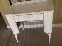 Cute White Wicker Desk in Kingwood, Texas