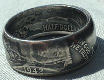 Handcrafted Half Dollar Coin Rings in Greensboro, North Carolina