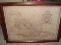 "OLD MAP OF THE ""BAHAMAS"" FRAMED in Camp Lejeune, North Carolina"
