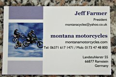 montana motorcycles in Ramstein, Germany
