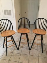 3 Wooden Barstools in Spring, Texas