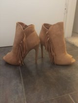 Brand New Fringed Suede Heels in Yucca Valley, California