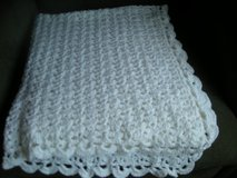 "WHITE HAND CROCHET BABY AFGHAN. NEW 37"" X 34"".  MADE BY ME. in Naperville, Illinois"