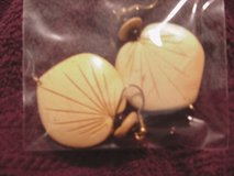 Earrings South Seas Wooden Made To Look Like Sea Shell Vintage in Lake Elsinore, California