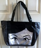 LARGE BLACK & SILVER FACE TOTE, PURSE, BAG in Lakenheath, UK