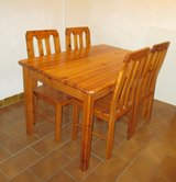 pine table + 4 chairs in Ramstein, Germany