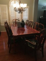 Beautiful Cherry Wood Bassett Dining Table with 8 Chairs and Server in Kingwood, Texas