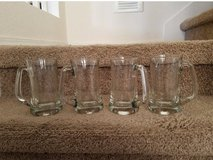 4 Glass Beer Mugs in bookoo, US