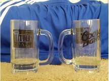 Two Glass Beer Mugs in bookoo, US