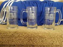 Three Glass Beer Mugs in bookoo, US