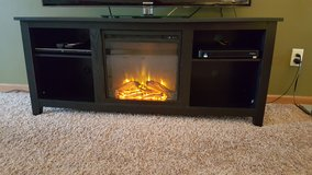 TV stand with fire display and heater in Sandwich, Illinois