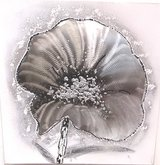 Hand Crafted Oil & Metal Painting Flower 1 in Ramstein, Germany
