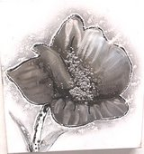 Hand Crafted Oil & Metal Painting Model Flower 3 in Ramstein, Germany