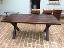 table antique solid wood dark oak table from France in Ramstein, Germany