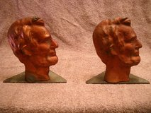 LINCOLN PURE SOLID COPPER BOOK ENDS 5 LBS.ONE & ONLY RARE in Lake Elsinore, California