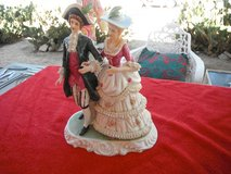 Ceramic Couple in medieval costumes in Yucca Valley, California