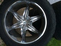 Four, 22 inch Helo rims with tires for a DODGE..Price lowered!!!! in Sandwich, Illinois