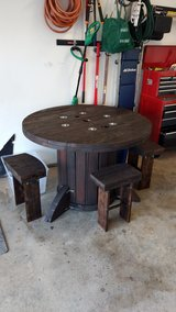 Spool table and chairs in Fort Leonard Wood, Missouri