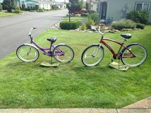 Two bicycles in Fort Lewis, Washington
