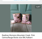 Real tree boots in Fort Rucker, Alabama
