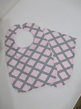 Baby Bib / Burp Cloth Set - Pink and Grey in Kingwood, Texas