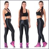 Black Satin Metallic Bright Neon Zip Up Skin Tight Legging Pencil Pants in Dover, Tennessee