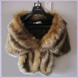 2 Black Tip Brown Natural Sable Hair Mink Stole Faux Fur Cape with Collar in Pleasant View, Tennessee