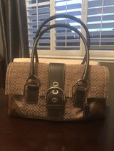Coach bag brown leather/suede in Travis AFB, California