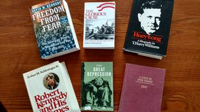 History book collection in Fort Belvoir, Virginia