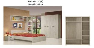 US Full Size Bed Action - Bed + Night Stand + Optimum Mattress + Box Frame + Delivery & Set-Up in Vicenza, Italy