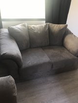 couch and love seat (gray) in Fort Lewis, Washington