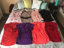 Lot of 8 WOMENS size medium dressy shirts in San Clemente, California