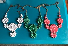 set of 3 flower necklaces in San Clemente, California