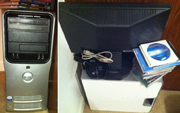 Dell Dimension E520 computer (Win XP) + monitor, keyboard, mouse, speakers, games in Elgin, Illinois