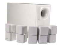 Bose Acoustimass 10 Series II Speaker System (White-Used) in Tinley Park, Illinois