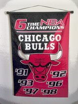 Chicago Bulls Banner 6 time NBA Champions Official Championship Banner in Lake Elsinore, California
