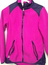 Bright pink and navy jacket in Kingwood, Texas