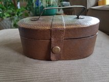 Vintage brown box with handle in Lockport, Illinois